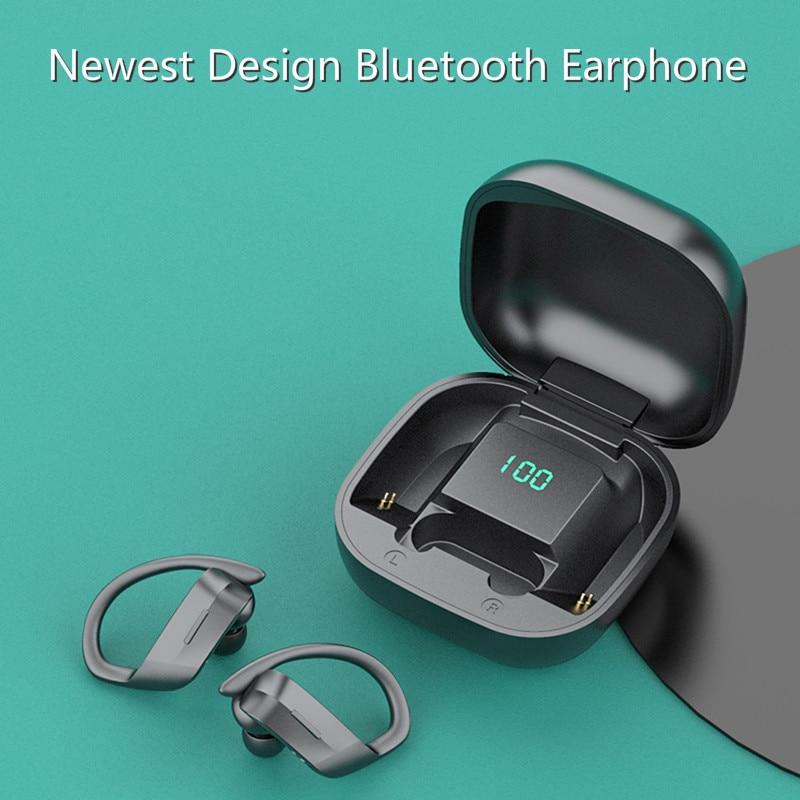 Sem fio bluetooth fones de ouvido bluetooth 5.0 esportes correndo binaural novo conceito pendurado ouvido invisível in-ear auricular