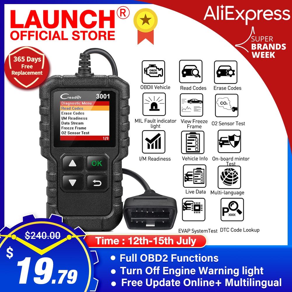 LAUNCH X431 CR3001 Car Full OBD2 /EOBD Code Reader Scanner Automotive Professional OBDII Diagnostic Tools Free Update pk ELM327