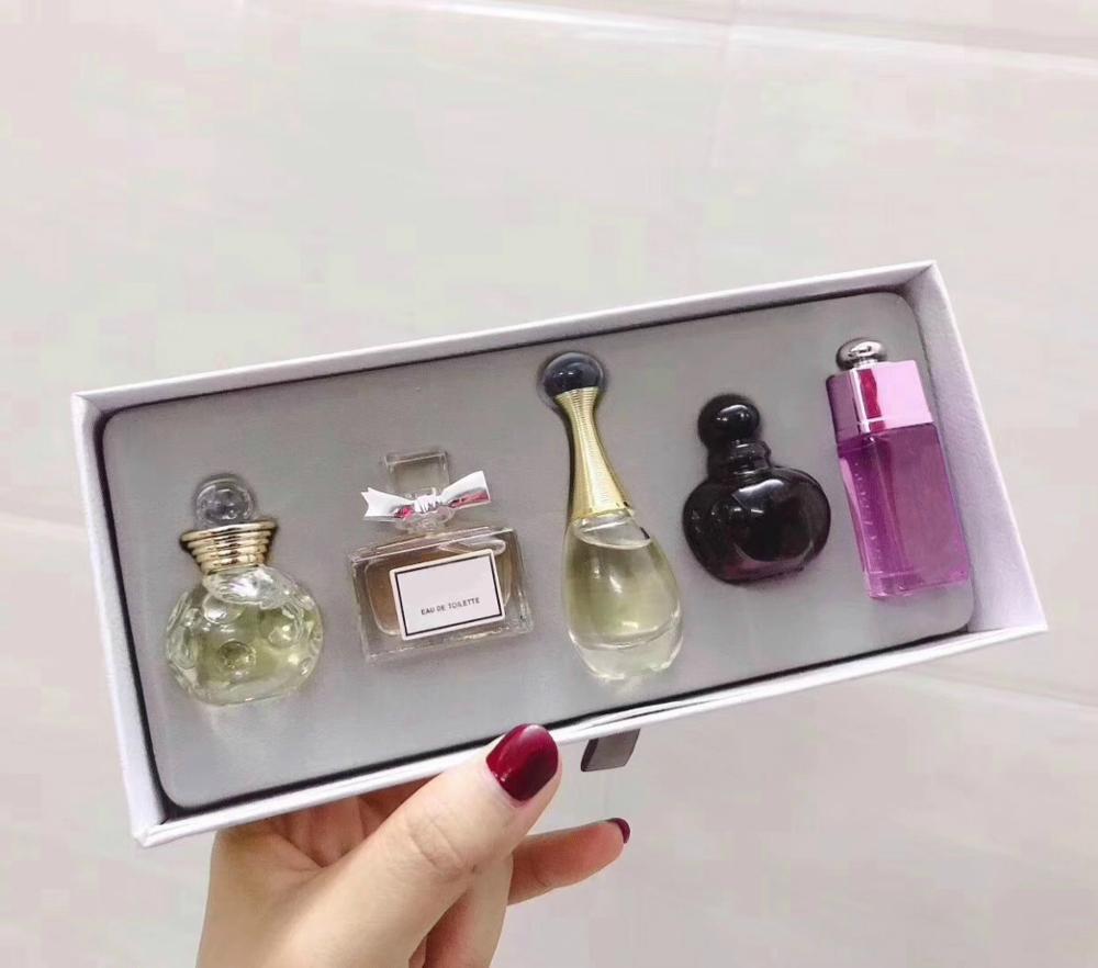 5 in 1 Original Perfume For Women Sexy Long Lasting Eau De Q Version Perfume Women With Beautiful Package 1Set Fragrances