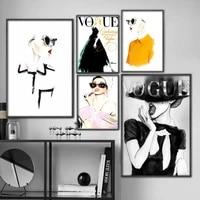Toile tableau moderne decoration de la maison  mode Sexy femmes peinture murale moderne  affiches modulaires salon
