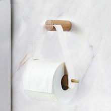 Wooden Rolled Toilet Paper Holder Bathroom Storage Paper Hand Towel Dispenser Toilet Tissue Paper Rack Bathroom Accessories