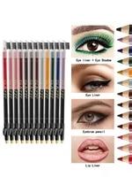 12 colors eyeliner eye shadow pen waterproof highlighter pencil