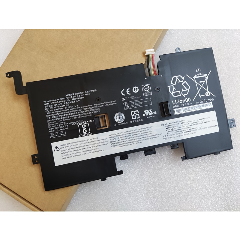 جديد وأصلي 00HW006 00HW007 SB10F46444 SB10F46445 2ICP4/66/73-2 بطارية كمبيوتر محمول 7.4 فولت 27Wh لينوفو ثينك باد هيليكس 2 برو