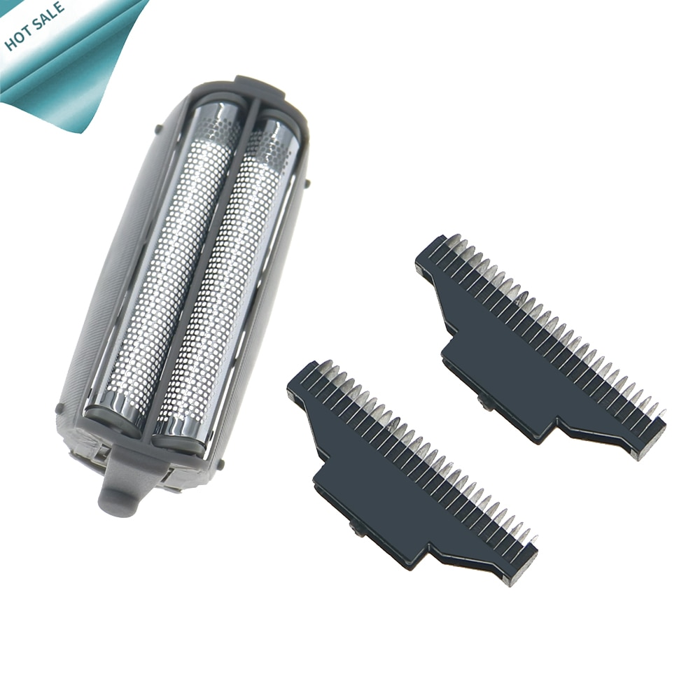 Inner Blade +.Shaver Replacement Foil Screen for Panasonic WES9833P ES4820 ES4823 ES4826 ES4853 ES4501 ES-RW30 ES9859 Razor Mesh enlarge