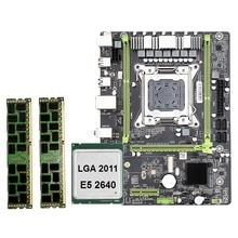X79 M2 LGA2011 материнская плата комбинированный набор с E5-2640 CPU 2X8GB 16GB DDR3 RAM 2-Ch 1600Mhz ECC REG NVME M.2 SSD слот