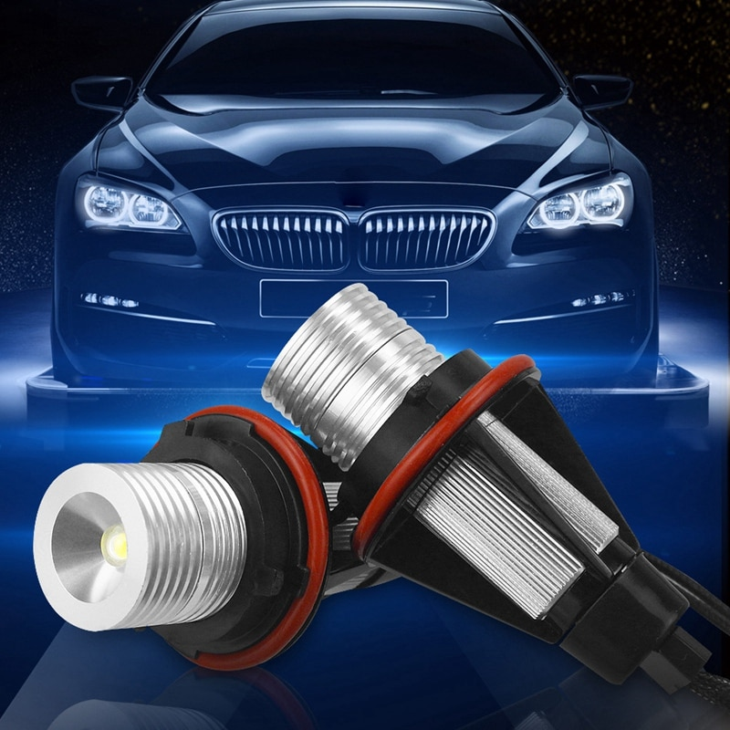 Car Angel Eye Fog Light Xenon White Led Bulb Headlight For Bmw E39 X83 X3 E53 X5 E60