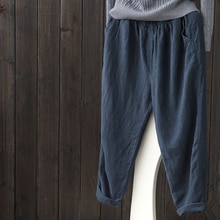 Bigsweety Cotton Linen Pants For Women Vintage Spring Autumn New Loose Casual Pants Women Long Pants