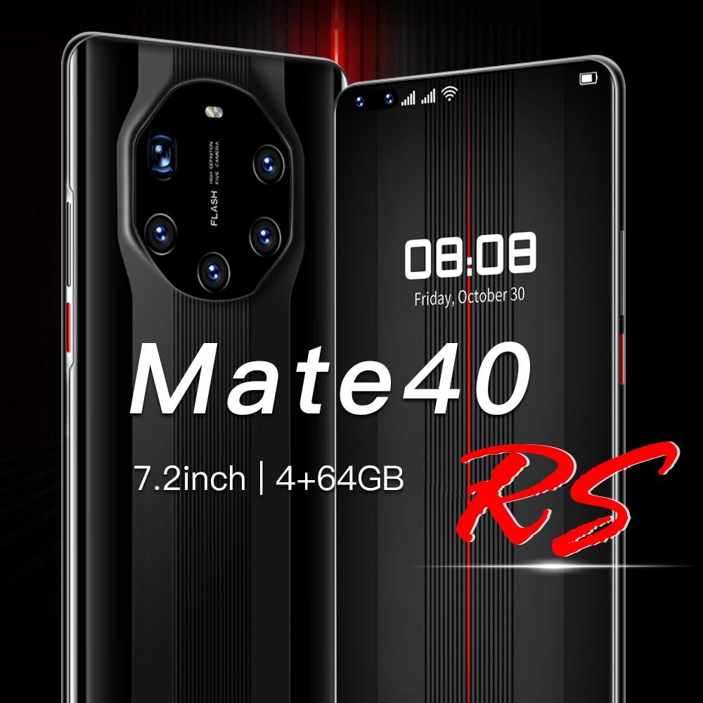Смартфон Mate 40 RS, 7,3 дюйма, камера 24 Мп + 48 МП, две SIM-карты, 64 ГБ, 256 ГБ, Android 10