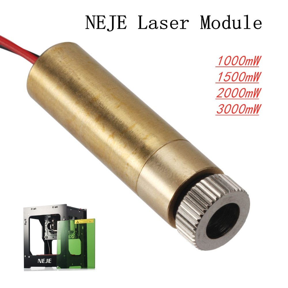 NEJE Laser Module 1000mW/1500mW/2000mW/3000mw 445nm/405nm Laser Head Replacement Kit for DK-8-KZ DK-