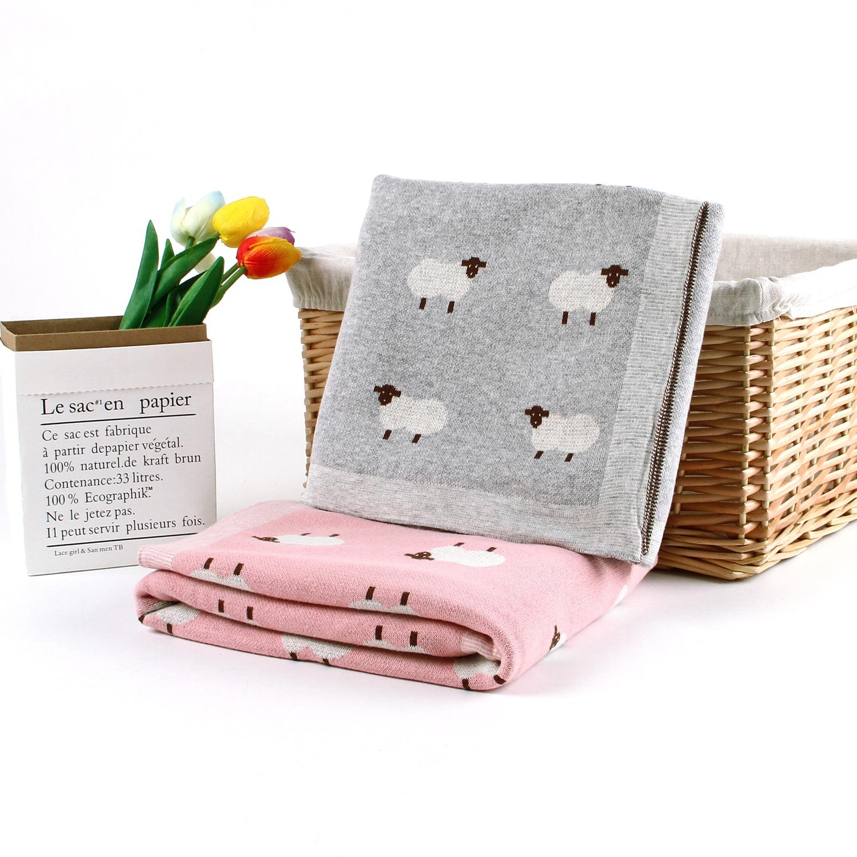 Mantas de bebé recién nacido 100% de algodón manta tejida abrigo conejo Infantil Niño sofá cama cochecito mantas de niños para