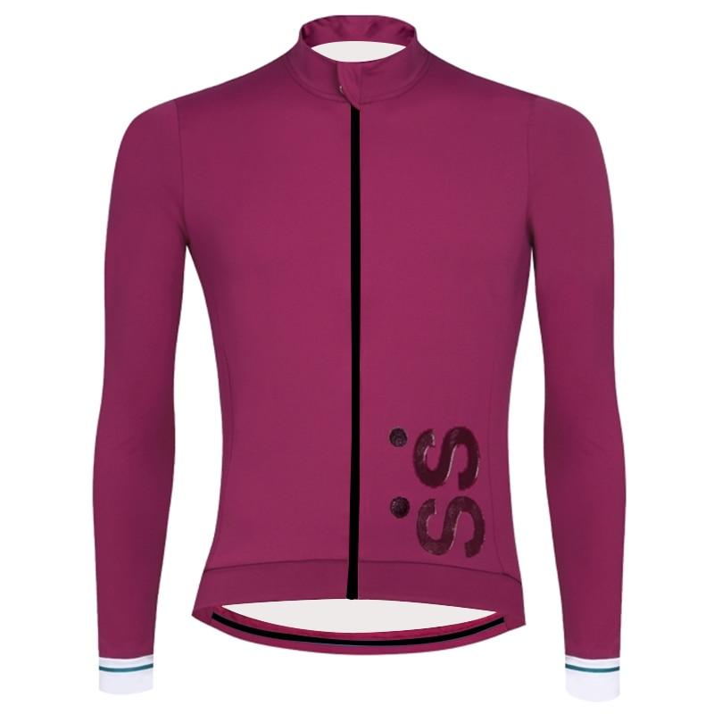 Camiseta de manga larga ciclismo RUNCHITA Pro equipo de Primavera/verano ropa de bicicleta ciclo maillot de velo ruta MTB fiets kleding