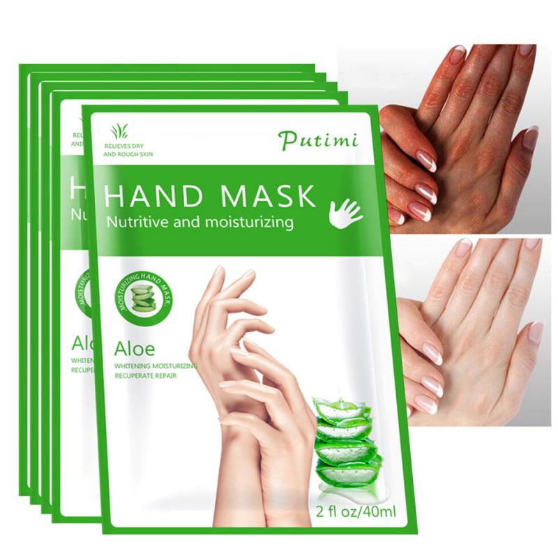 Aloe Hand Mask Peel Hand Care Moisturize Spa Gloves Whitening Hand Cream Exfoliating Hand Scrub Remo