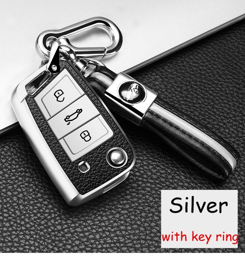 Защитная оболочка для автомобильного ключа с брелоком для VW Volkswagen Skoda Golf 7 GTI 7 Golf R R20 Passat Tiguan Touran Jetta MK1-MK6