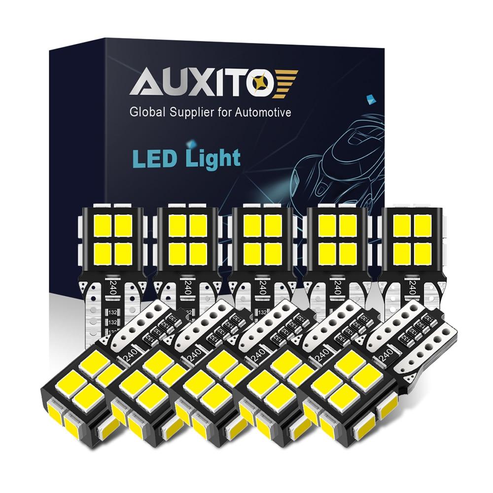 AUXITO NEW 10Pcs T10 LED Lights 2835 SMD W5W LED Bulb Canbus No Error Car Interior Lighting Automoti