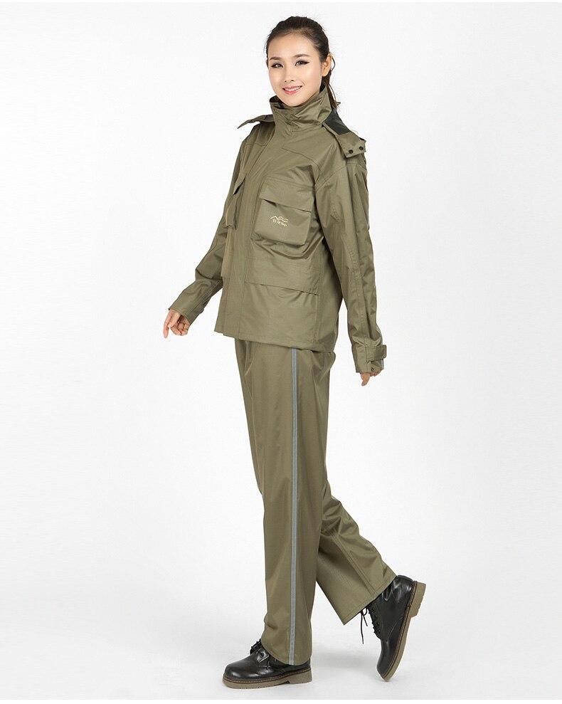 Waterproof Raincoat Motorcycle Fabric Women Fashion Rain Coat Pants Suit Impermeable Breathable Bluzy Damskie Rain Gear AC50RC