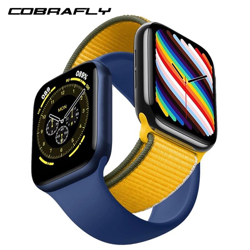 COBRAFLY HW18 40 مللي متر HW19 44 مللي متر reloles inteligente Smartwatch مع دعوة مراقب معدل ضربات القلب جهاز تعقب للياقة البدنية PK HW12 HW22 IWO 13