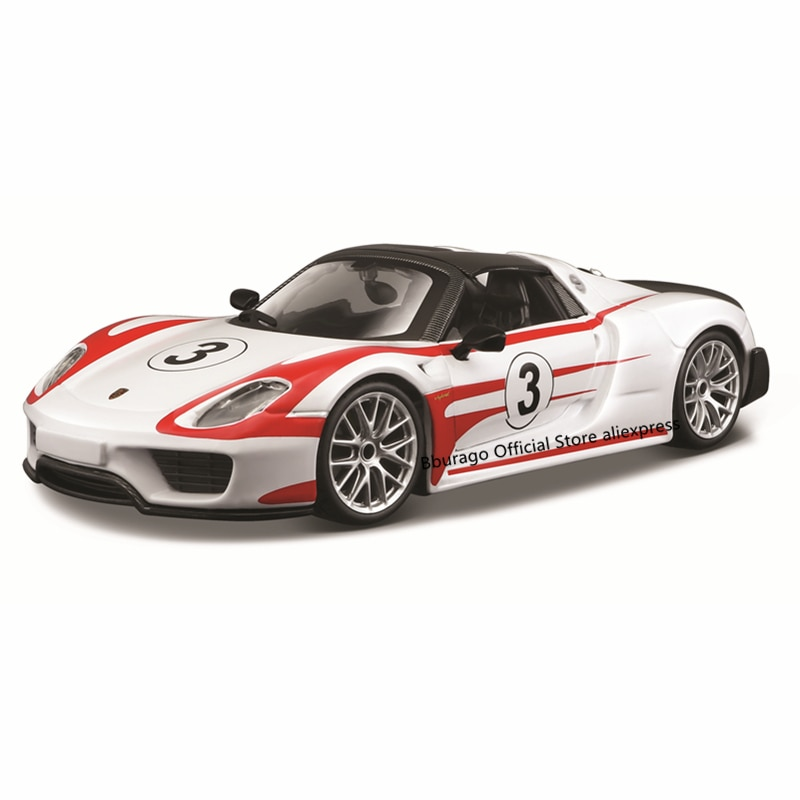 Bburago 1:24 Scale Porsche 918 Weissach alloy racing car Alloy Luxury Vehicle Diecast Cars Model Toy Collection Gift alloy model gift 1 50 scale scania a90 city wide transit bus vehicle diecast toy model for collection decoration