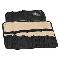 Chef Knife Bag Roll Bag Carry Case Bag Kitchen Portable Storage 10/21 Pockets Black & Coffee Color