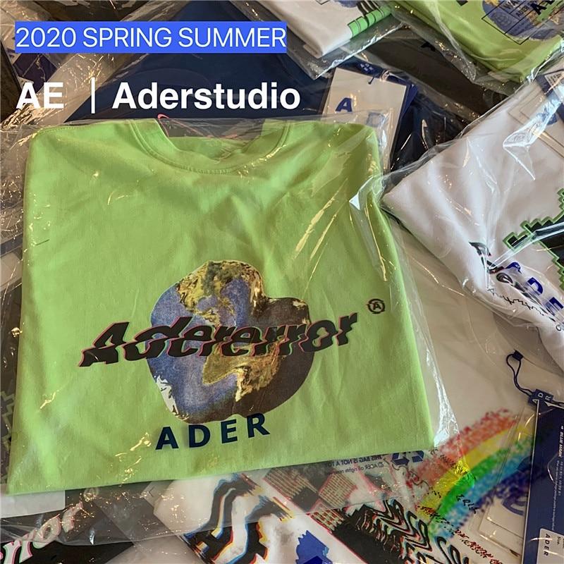 2020ss Adererror camiseta hombres mujeres alta calidad tema tierra patrón ADER ERROR camisetas Adererror algodón Tee