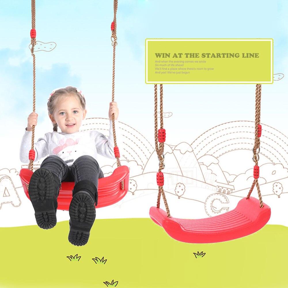 Columpio de jardín, asiento colgante, juguetes para niños, silla de columpio curvada de Color arcoíris para interior y exterior con cuerdas ajustables de altura para niños