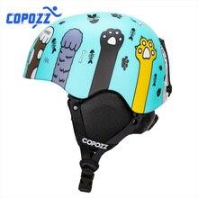COPOZZ Cartoon casque de Ski intégralement moulé montagne vtt route cyclisme Protection casque Sport accessoires pour adultes et enfants