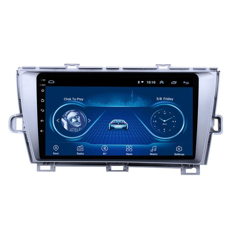 2 Din Adroid 8.1 Auto Radio Stereo Wifi Gps Navigatie Multimedia Speler Head Unit Voor Toyota Prius 2009-2013