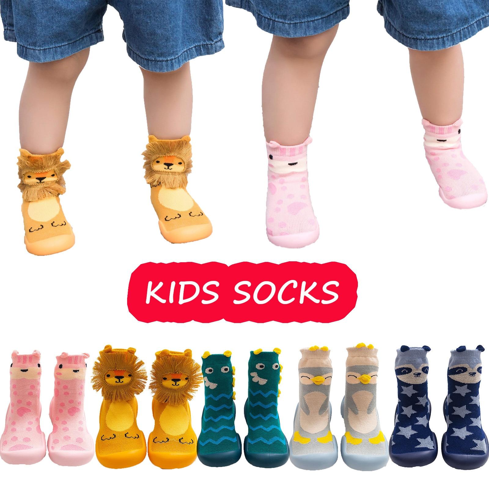 Toddler Kids Baby Knit Soft Sole Rubber Shoes Socks Slipper Stocking Kроссовки детски�