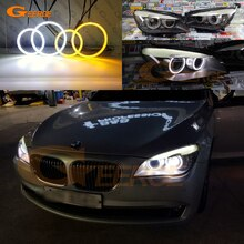 Ultra parlak çift renk Switchback led melek gözler drl dönüş sinyali BMW F01 F02 F03 F04 730d 740d 740i 750i 760i 2008-2012
