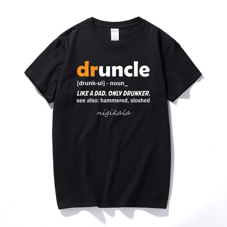 Camiseta Druncle Funcle de definición para hombre, camiseta Unisex de manga corta para hombre, talla europea
