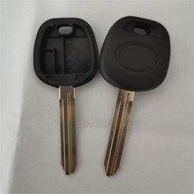 Dakatu com a substituição do logotipo caso chave do carro para toyota camry highlander yaris reiz transponder chave escudo toy43 lâmina