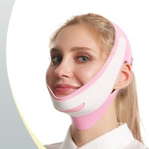 Pink Face-lift Sleep Face V Shaper Facial Slimming Bandage Relaxation Shape Lift Reduce Double Chin Face Thining Band Massage