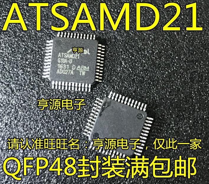 100% новый и оригинальный ATSAMD21G18A-AU ATSAMD21 QFP48