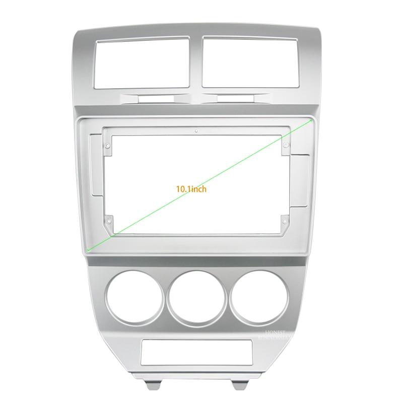 Fasxia-إطار صوت لراديو السيارة ، 10.1 بوصة ، نظام تحديد المواقع العالمي للملاحة ، لوحة اللفافة مناسبة لدودج كاليبر 2007-2010
