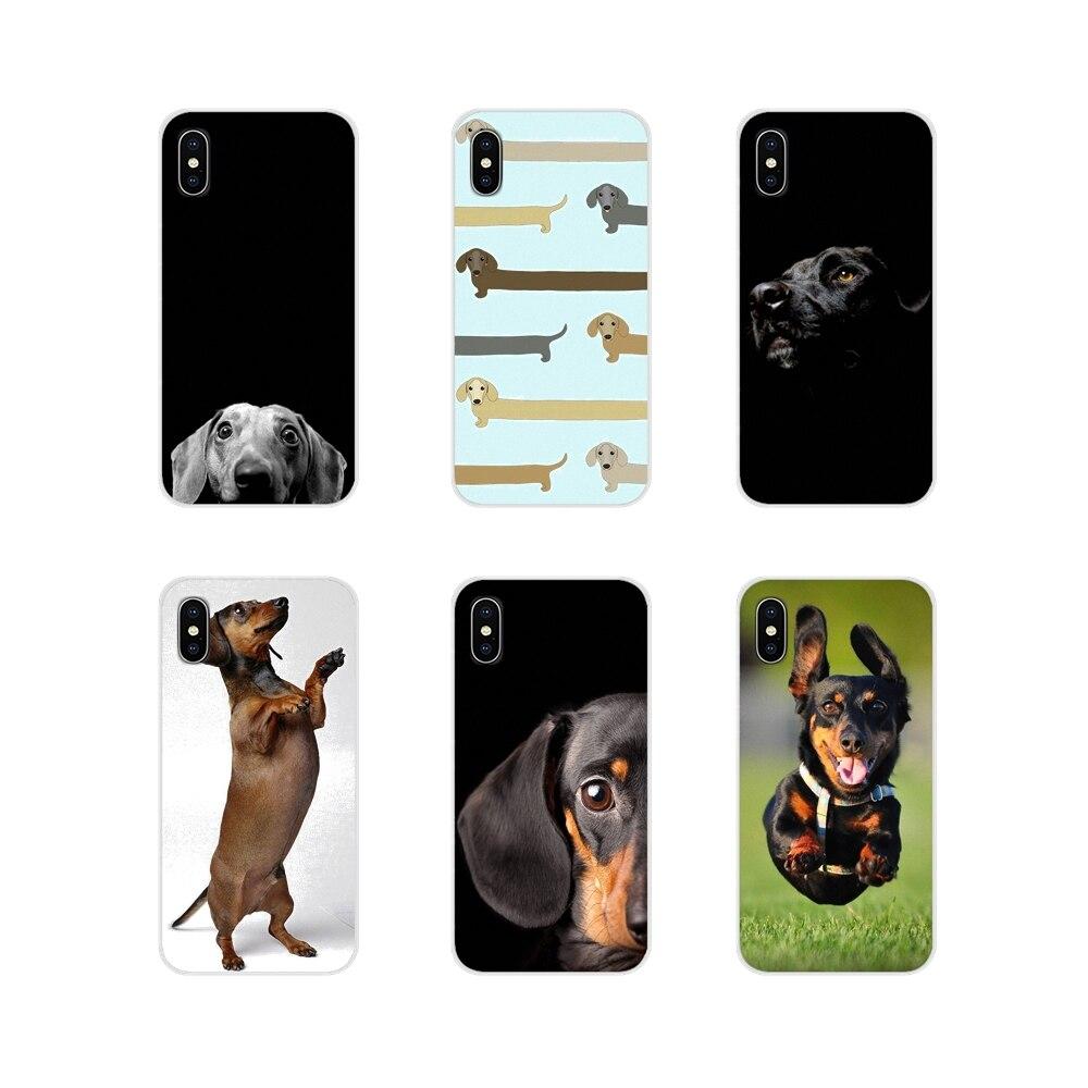 Negro perro dóberman cara mejor para iPhone X de Apple XR XS 11Pro MAX 4S 5S 5C SE 6 6S 7 7 Plus ipod touch 5 6 Ultra delgado caso