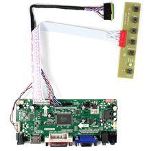 Yqwsyxl Control Monitor Kit para B140RW02 V0 V.0 B140RW02 V1 V2 + HDMI + DVI + VGA LCD pantalla LED Placa de controlador conductor
