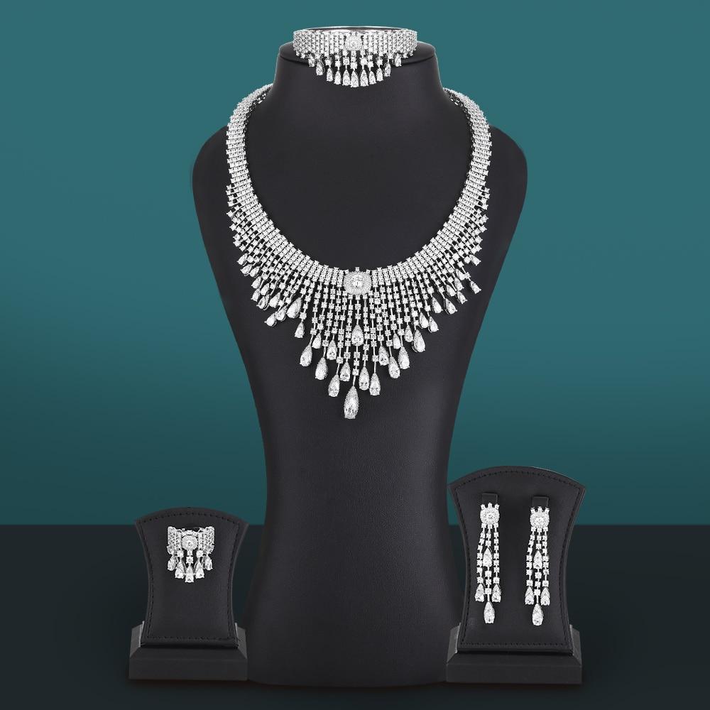 Missviki جودة عالية 4 قطعة كبيرة فاخرة فرنسا أفريقيا طقم مجوهرات للنساء حفل زفاف زركون دبي مجوهرات الزفاف