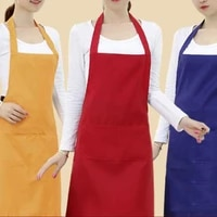 pure color sleeveless apron cooking waiter cafe shop home kitchen household cleaning apron woman men chef bbq hairdresser aprons