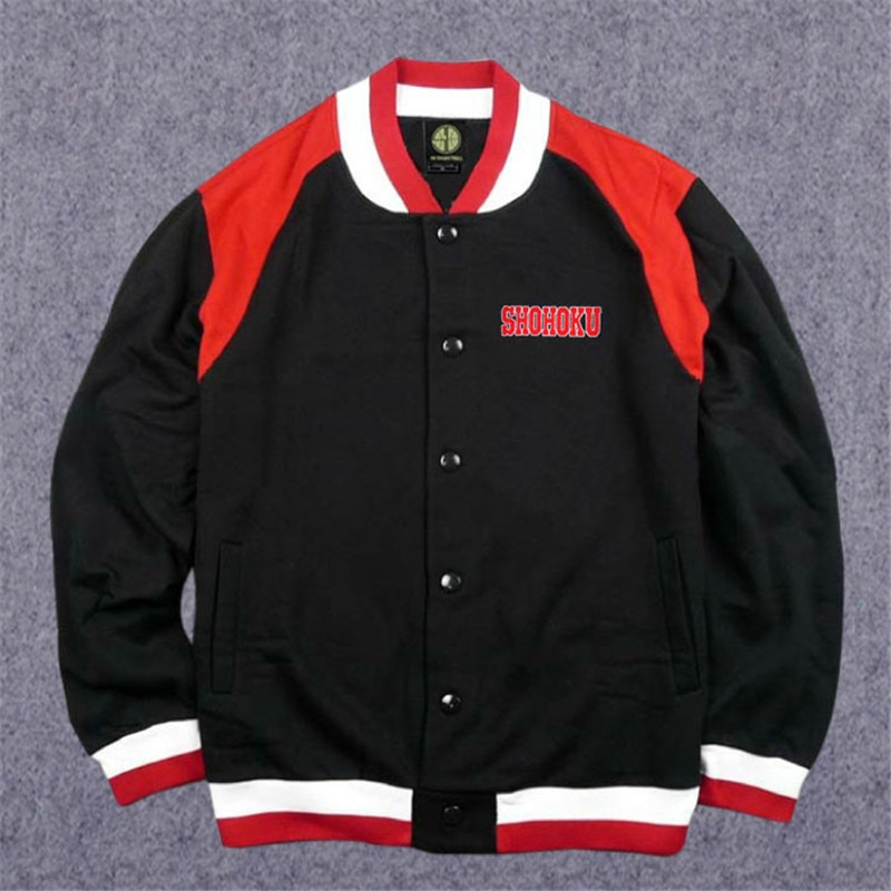 Anime Shohoku School Basketball Team Autumn Winter Coat Jersey Cosplay Costume Sakuragi Warm Jacket Tops Sports Wear Uniform