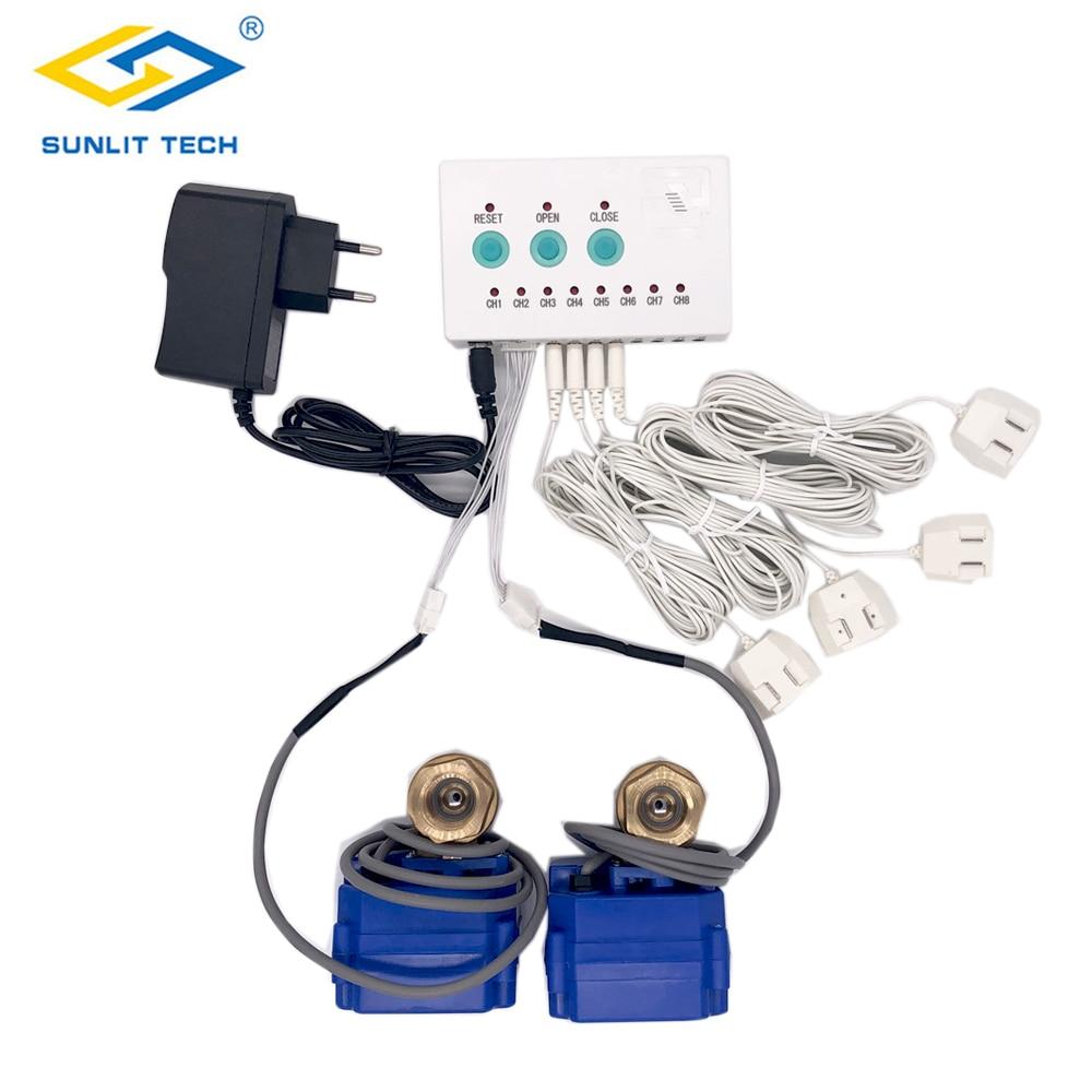 Alarma rusa con Sensor de fuga de agua con válvula DN15 DN20 DN25 de 2 uds para casa inteligente protección contra derrames
