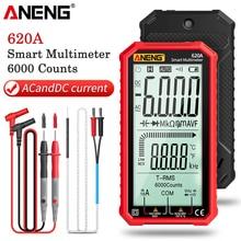 ANENG 620A Digitale Smart Multimeter Transistor Tester 6000 Zählt True RMS Auto Elektrische Kapazität Meter Temp Widerstand