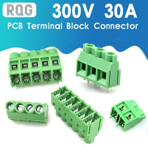 5pcs KF635 6.35MM 7.62MM 9.5MM Screw PCB Terminal Block Connector Pitch 2Pin 3Pin 300V 30A Screw Terminal