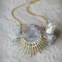 fashion moon shape hollow pendant necklace for women retro personality elegant charm party wedding jewelry jewelry