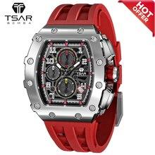TSAR BOMBA Watch for Men Luxury Brand 50M Waterproof Stainless Steel Quartz Wristwatch Sport Chronog