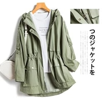 womens mid length overalls loose fashion coat