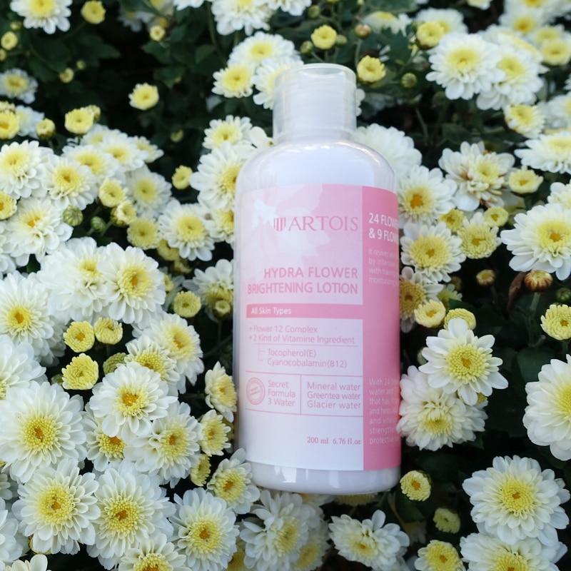 Cosméticos coreanos ARTOIS productos para el cuidado de la piel crema de día loción humectante blanqueamiento variedad natural esencia de extracto de flores