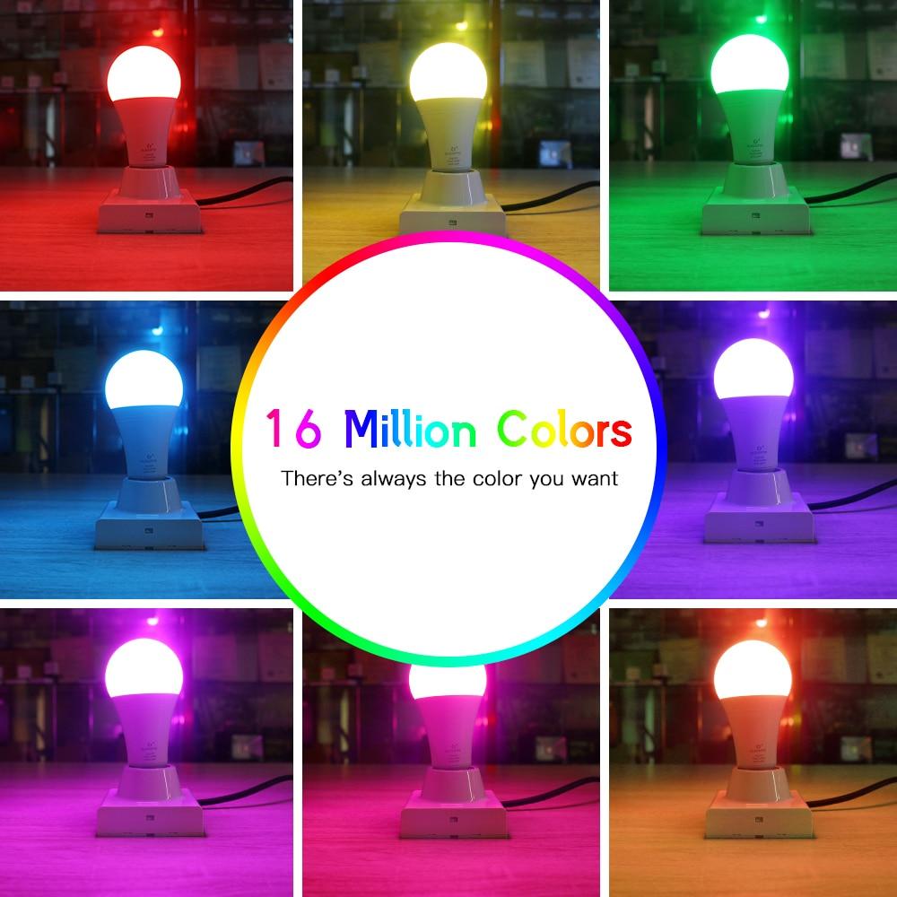 GLEDOPTO 4PCS LED Bulb 12W ZIGBEE APP/Voice Control RGBCCT Color Changing Light Home Decor AC100-240V Bulb Work with Hub enlarge