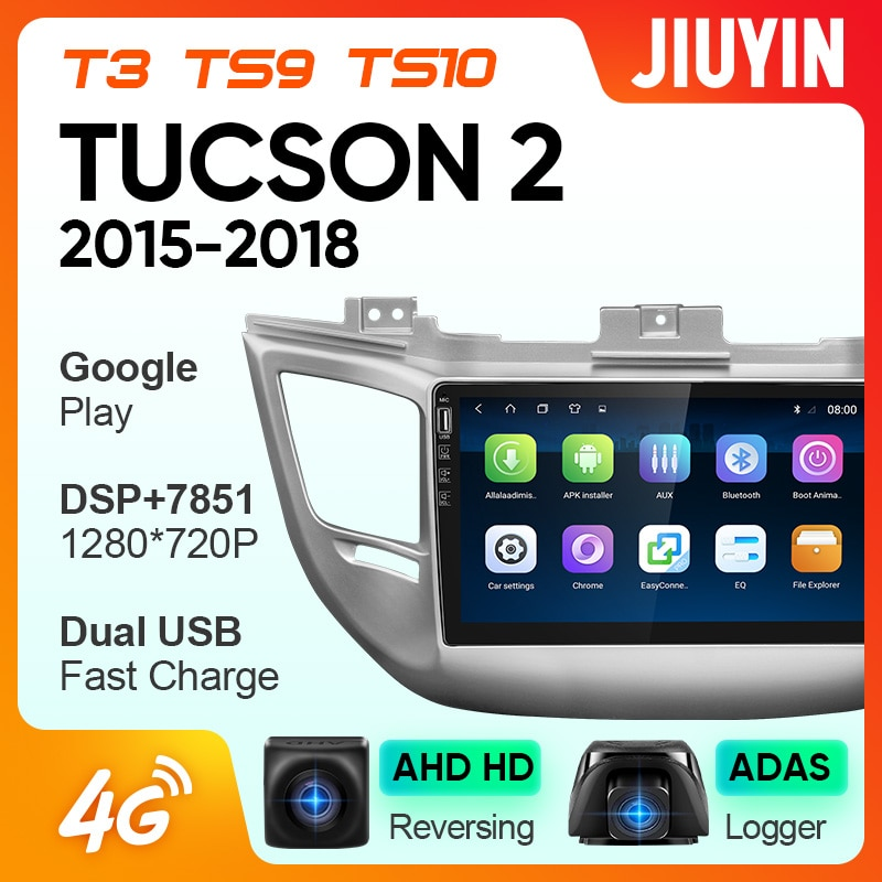 JIUYIN For Hyundai Tucson  2015-2018 Car Radio Multimedia Video Player Navigation GPS Android No 2din 2 din