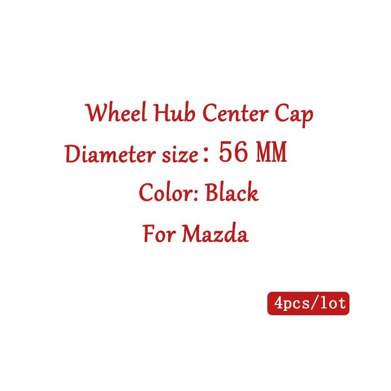 4Pcs 56mm 2,2 in rad hub center cap auto rad abdeckung radkappe Für Mazda 2 3 5 6 axela CX-4 CX-5 CX9 Aufkleber Emblem auto styling