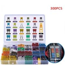 300pcs 5/7/10/15/20/25/30A Fuse Car Blade Fuse Assortment Assorted Kit Mini Small Size Blade Set Aut