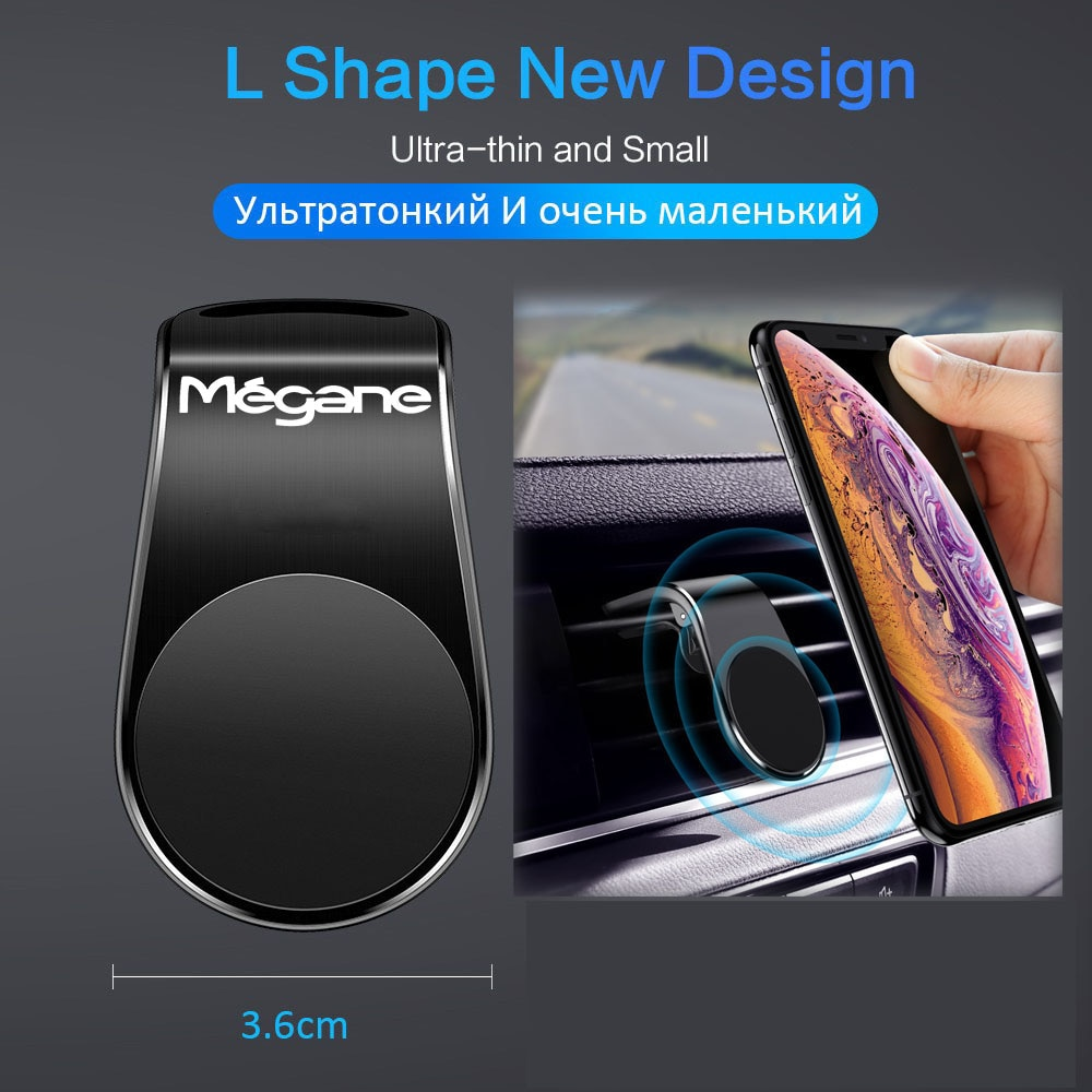 Magnetic Universal Car Phone Holder Air Vent Mount Stand GPS Mobile Cell for renault Magane 2 3 4 accessories